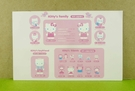 【震撼精品百貨】Hello Kitty 凱蒂貓~卡片-人物介紹