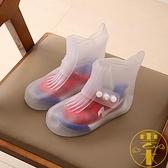 兒童防水雨鞋套腳雨靴男女防水防滑中筒鞋套加厚【雲木雜貨】