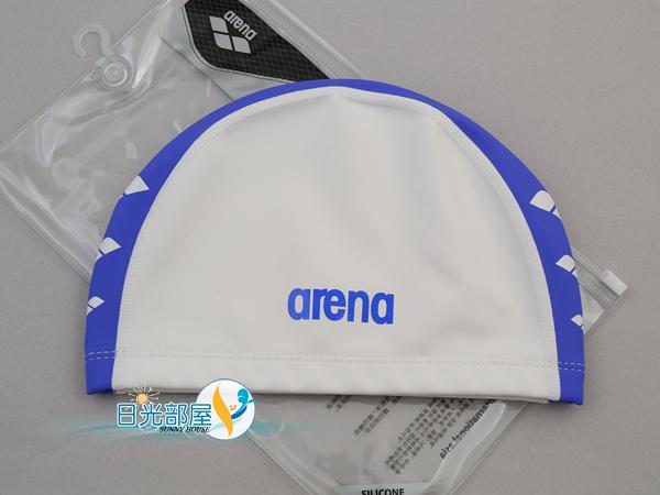 *日光部屋* arena (公司貨)/FAR-6912-WHT 2WAY舒適矽膠泳帽