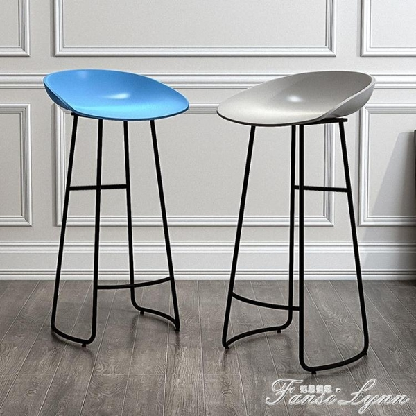 北歐吧台椅現代簡約高腳凳家用吧凳吧台凳前台高凳子高腳凳酒吧椅HM 范思蓮恩