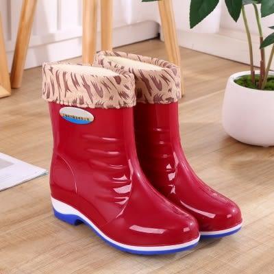 雨鞋女高筒雨靴長筒水靴水鞋加絨防滑膠鞋套鞋冬雨鞋中筒zg