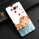 Samsung Galaxy J7 2016 Prime N075T 手機殼 硬殼 兩個世界 貓戀魚
