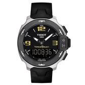 [結帳再折]TISSOT天梭 Touch 潮汐多功能觸碰式計時運動錶 -T0814201705700