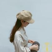 八角帽女韓版畫家帽貝雷帽日系復古休閒百搭帽子男【雲木雜貨】