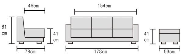 【森可家居】奧斯卡三人鐵灰色布沙發(附腳椅/不拆賣) 7JF179-1 簡約北歐風