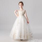 演出服 兒童禮服公主裙女童婚紗裙蓬蓬紗花童鋼琴演出服小主持人晚禮服冬