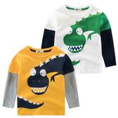 假兩件式恐龍印花 薄長袖上衣 恐龍 薄長袖 橘魔法 Baby magic 現貨 童裝 男童