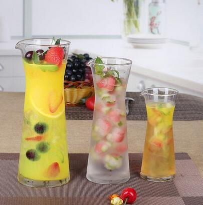 玻璃果汁杯水果花茶壺水壺大號加厚無鉛飲料杯冷飲杯白酒分酒器