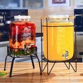 復古無鉛玻璃壺開關瓶果汁罐冷飲冷水壺大容量不耐熱水龍頭飲料桶 樂活生活館
