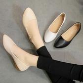 尖頭鞋 新款平底女鞋素面軟皮軟底時尚尖頭鞋平底春秋款單鞋船鞋瓢鞋 瑪麗蘇