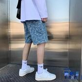 牛仔短褲男夏季寬鬆韓版嘻哈五分薄款休閒褲子【英賽德3C數碼館】