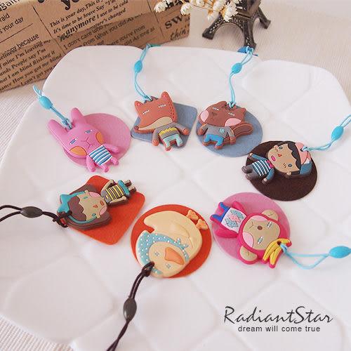 韓國羅馬尼可愛卡通系列軟陶手機防塵塞/耳機塞/防塵擦布【AN532】璀璨之星☆