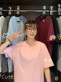 中長款短袖t恤女2021年新款夏季打底衫韓版寬鬆內搭純色上衣ins潮