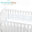 英國 BreathableBaby 透氣嬰兒床圍 全包型(18434滿天星藍)[衛立兒生活館]