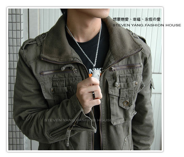 戒指STEVEN YANG素面黑鋼戒 時尚流行款 *單個價格*鋯石