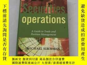 二手書博民逛書店Securities罕見Operations : A Guide