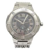 CHARRIOL 夏利豪 黑色大面盤鋼鎖繩紋機械不銹鋼腕錶 geneve CE443 【BRAND OFF】
