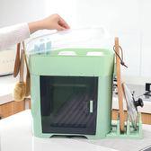 廚房碗筷收納盒置物架放碗碟瀝水架收納箱帶蓋家用儲物架塑料碗櫃 NMS漾美眉韓衣