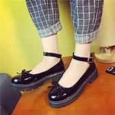 娃娃鞋 春季新款日系原宿風平底圓頭小皮鞋蝴蝶結女鞋英倫女單鞋 - 古梵希