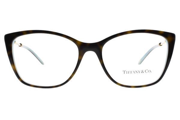 Tiffany&CO.光學眼鏡 TF2160BF 8134 (琥珀棕-蒂芬尼藍) 甜蜜情結貓眼款 眼鏡框 # 金橘眼鏡