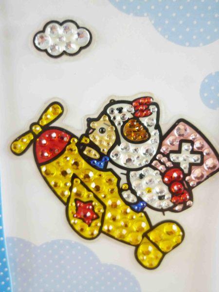 【震撼精品百貨】ONE PIECE&HELLO KITTY_聯名海賊王喬巴&凱蒂貓系列~亮鑽貼紙-飛機