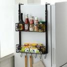 冰箱置物架冰柜側面夾縫鐵藝壁掛式多層收納掛架廚房用品家用大全  【端午節特惠】