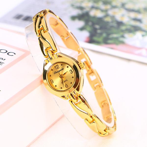 ins風金色手鏈式手錶女鏈條細帶小巧精致女士簡約氣質學生小表盤 創意新品
