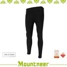 【Mountneer 中性 彈性緊身內搭褲《黑》】21S39/慢跑褲/瑜珈褲/健身/運動/貼腿褲