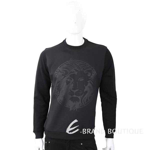 Versus Versace 獅頭圖騰印花黑色太空棉運動衫 1810155-01