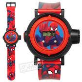 Disney 迪士尼 / MV-81018 / 漫威系列 蜘蛛人 酷炫投影錶 兒童錶 卡通錶 電子 橡膠手錶 紅黑色 48mm