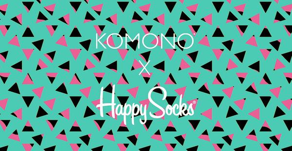 KOMONO X Happy Socks Estelle系列聯名腕錶-閃卡x普普跳跳糖