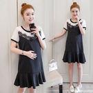 【愛天使孕婦裝】韓版(93516)顯瘦設計 韓版直條紋上班族洋裝 孕婦裝
