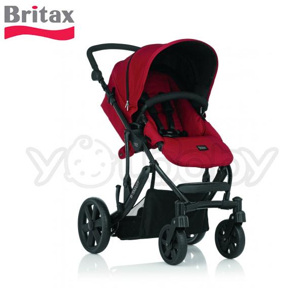 Britax B-SMART 四輪雙向手推車-紅【限量特價】