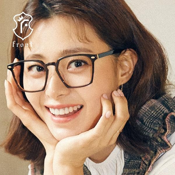 【Front 光學眼鏡】G2802-四色可挑選#簡約方框光學眼鏡