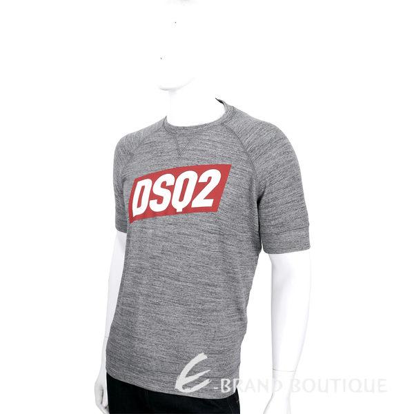 DSQUARED2 灰色撞色LOGO圖騰設計棉質短袖T恤 1620138-06