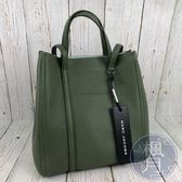 BRAND楓月 MARC JACOBS MJ THE TAG 草綠色 雙提把 托特包 TOTE