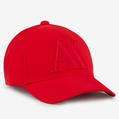ARMANI EXCHANGE 阿瑪尼時尚橡膠標誌帽子(紅色)