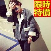 女夾克外套 羊羔毛風靡時尚-簡約短款修身外套 65ad11[巴黎精品]