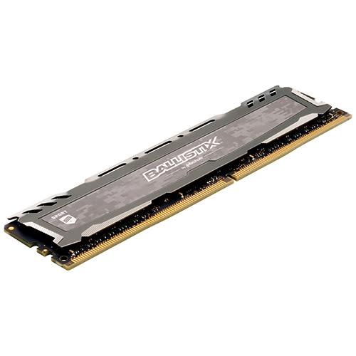 Micron Ballistix Sport LT 競技版 DDR4 3200/32GB (16GB*2) RAM 超頻記憶體 灰色散熱片 BLS2K16G4D32AESB