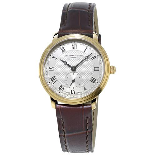康斯登 CONSTANT SLIMLINE超薄系列小秒針女腕錶   FC-235M1S5