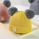 寶寶毛線帽子針織秋冬季兒童加絨女童0嬰兒1男童2嬰幼兒韓版潮3歲  免運快速出貨