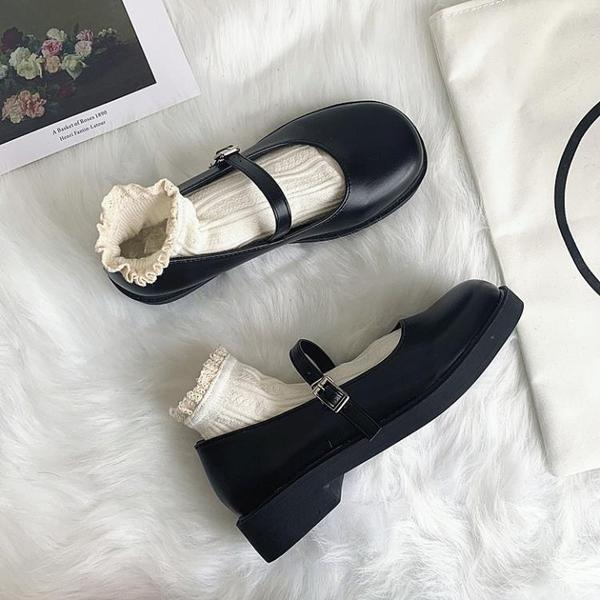 小CK瑪麗珍單鞋女2020年新款夏季學生百搭JK平底復古英倫風小皮鞋 後街五號