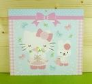 【震撼精品百貨】Hello Kitty 凱蒂貓~雙面卡片-藍玫瑰