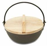 陽極鑄造養生鍋木蓋組(20cm)【愛買】