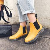 純手工真皮女鞋☆2019新款頭層牛皮馬丁靴 中跟短靴 ~2色
