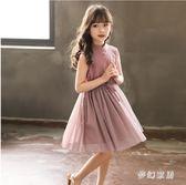 女童連衣裙2019夏季新款韓版洋氣寬鬆休閒公主裙 QW7470『夢幻家居』