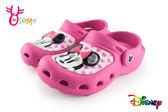 米妮布希鞋 LED電燈 拖鞋 懶人鞋 園丁鞋 H5877#桃紅◆OSOME奧森童鞋