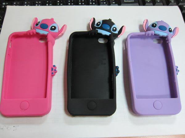 【世明國際】出清㊕價-i4s2-蘋果IPhone4/4立體3D趴趴史迪奇蘋果保護殼手機套卡通軟殼