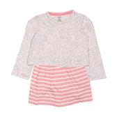 Carter s卡特 薄外套+包屁裙短袖洋裝套裝二件組 灰色 | 女寶寶連衣裙(嬰幼兒/兒童/小孩)