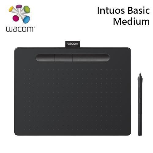 Wacom Intuos Basic Medium 繪圖板 入門版 黑-CTL-6100/K1-C【送多拿滋券+專用手套+保護套】